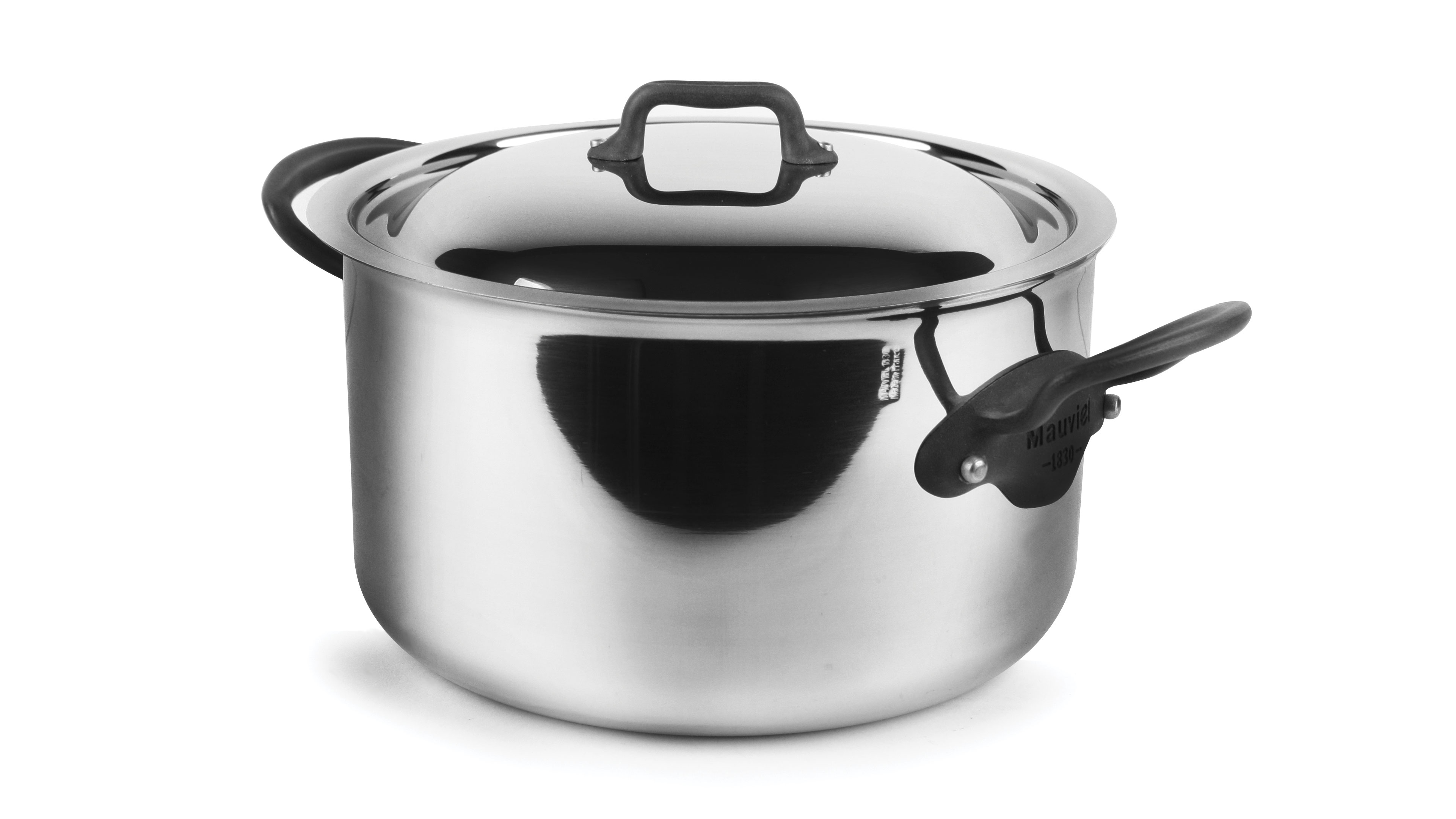 Mauviel M Cook Pro Stainless Steel Stock Pot 6 4 Quart