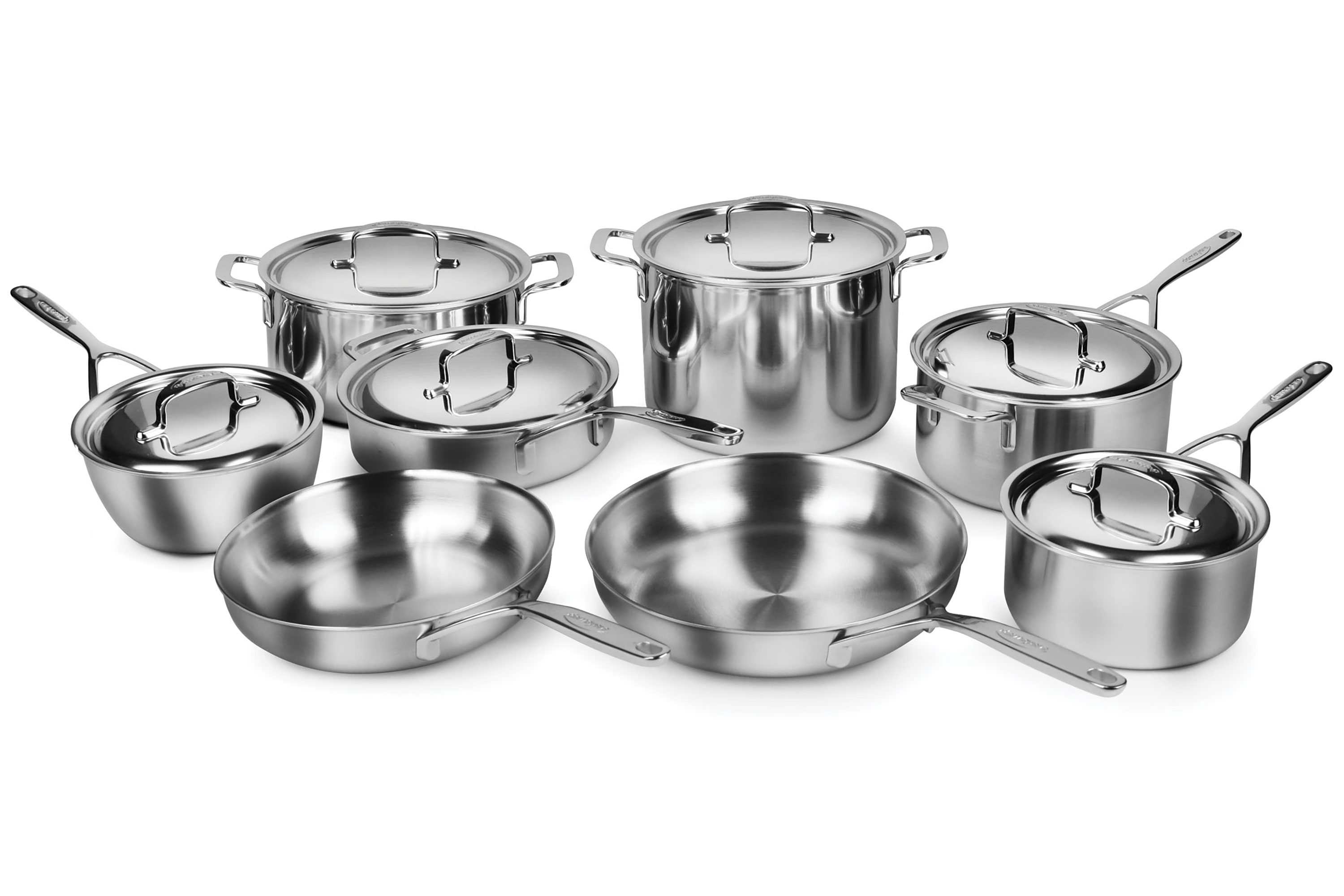 Demeyere Cookware Set 5 Ply Plus Stainless Steel 14 Piece