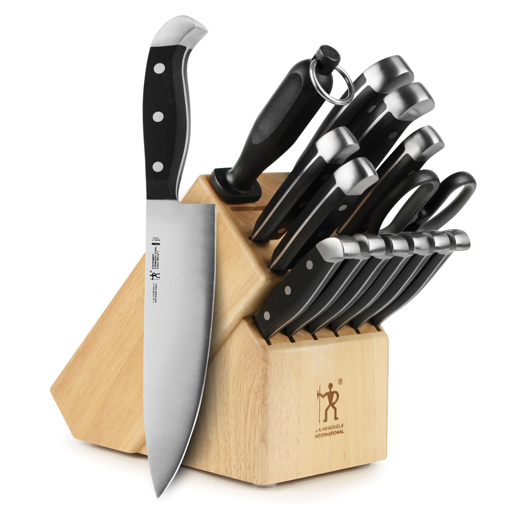 J A Henckels Statement Knife Block Set 15 Piece Cutlery