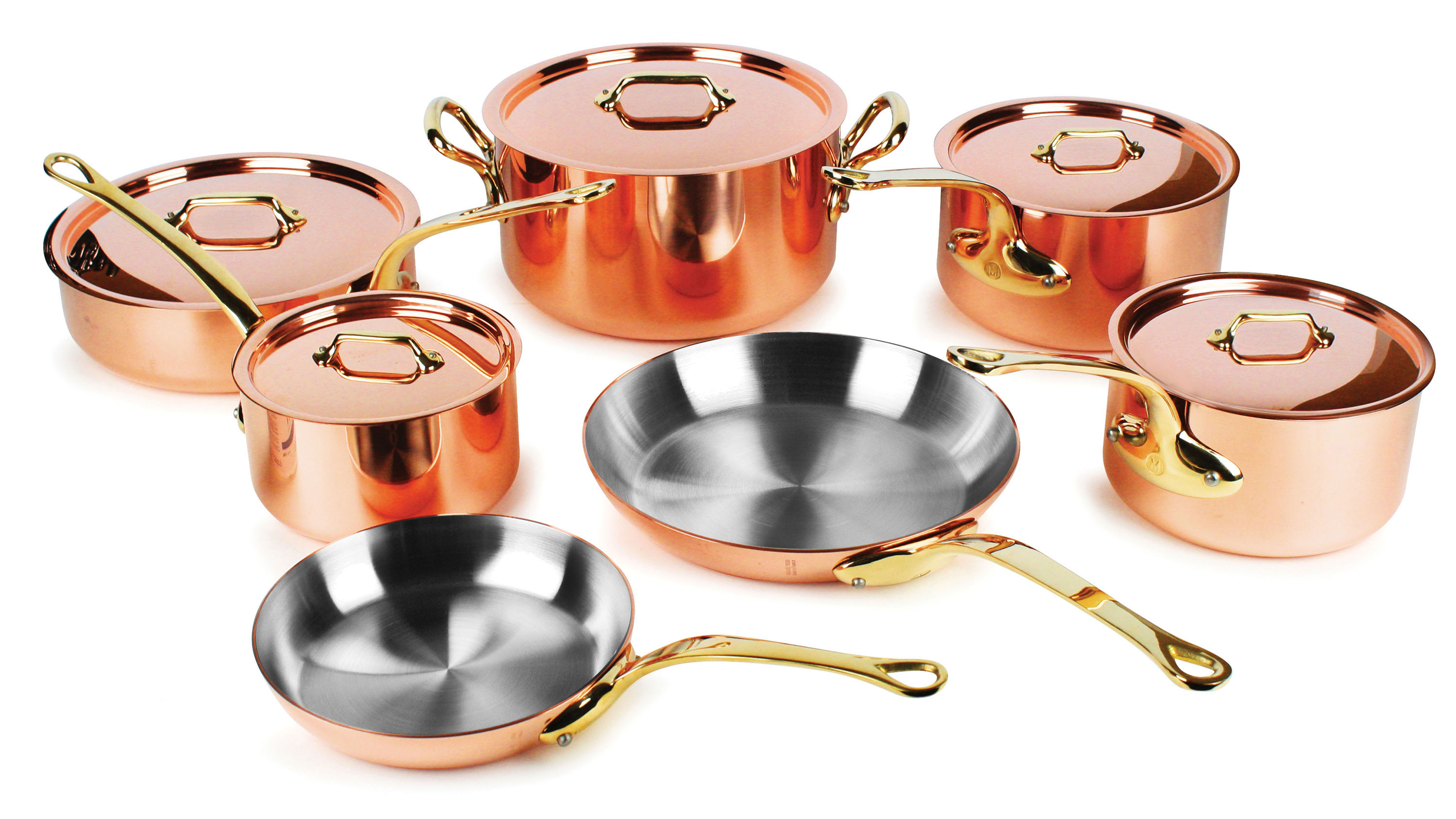 Mauviel Copper Cookware Set 2 5mm 12 Piece M250b M