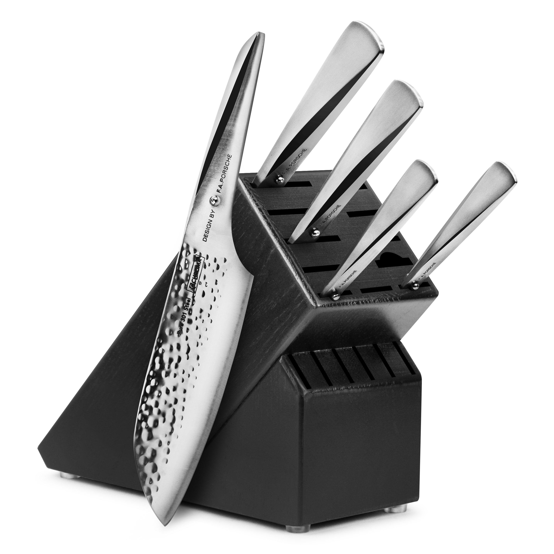 Chroma Type 301 Hammered Knife Block Set 6 Piece Black