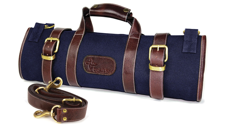 047c85b380fc Boldric 17 Pocket Navy Canvas Knife Bag