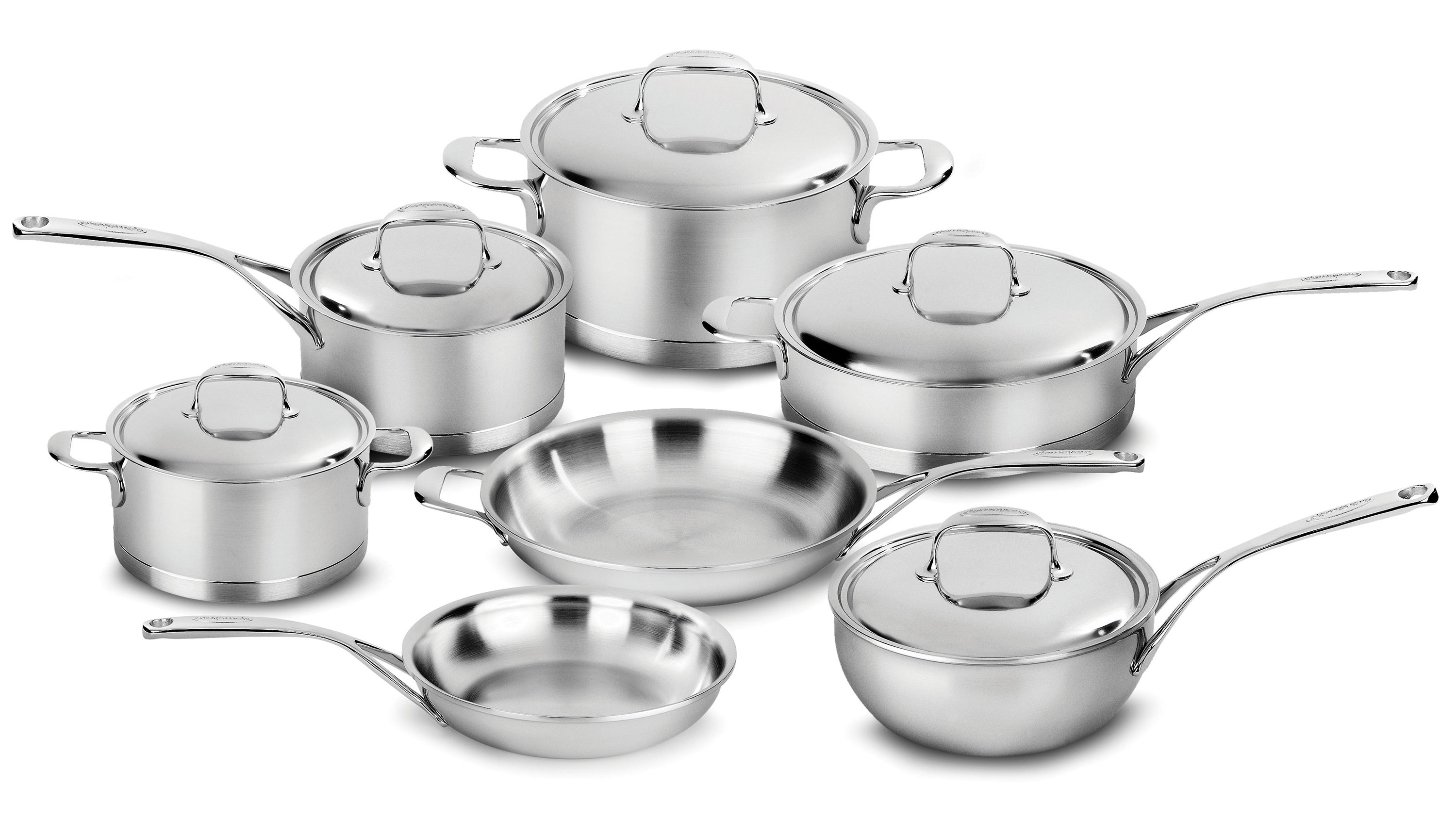 Demeyere Atlantis Cookware Set 12 Piece Stainless Steel