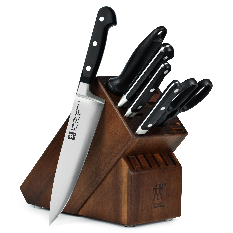 Henckels Professional S Knife Set 7 Piece Acacia Block