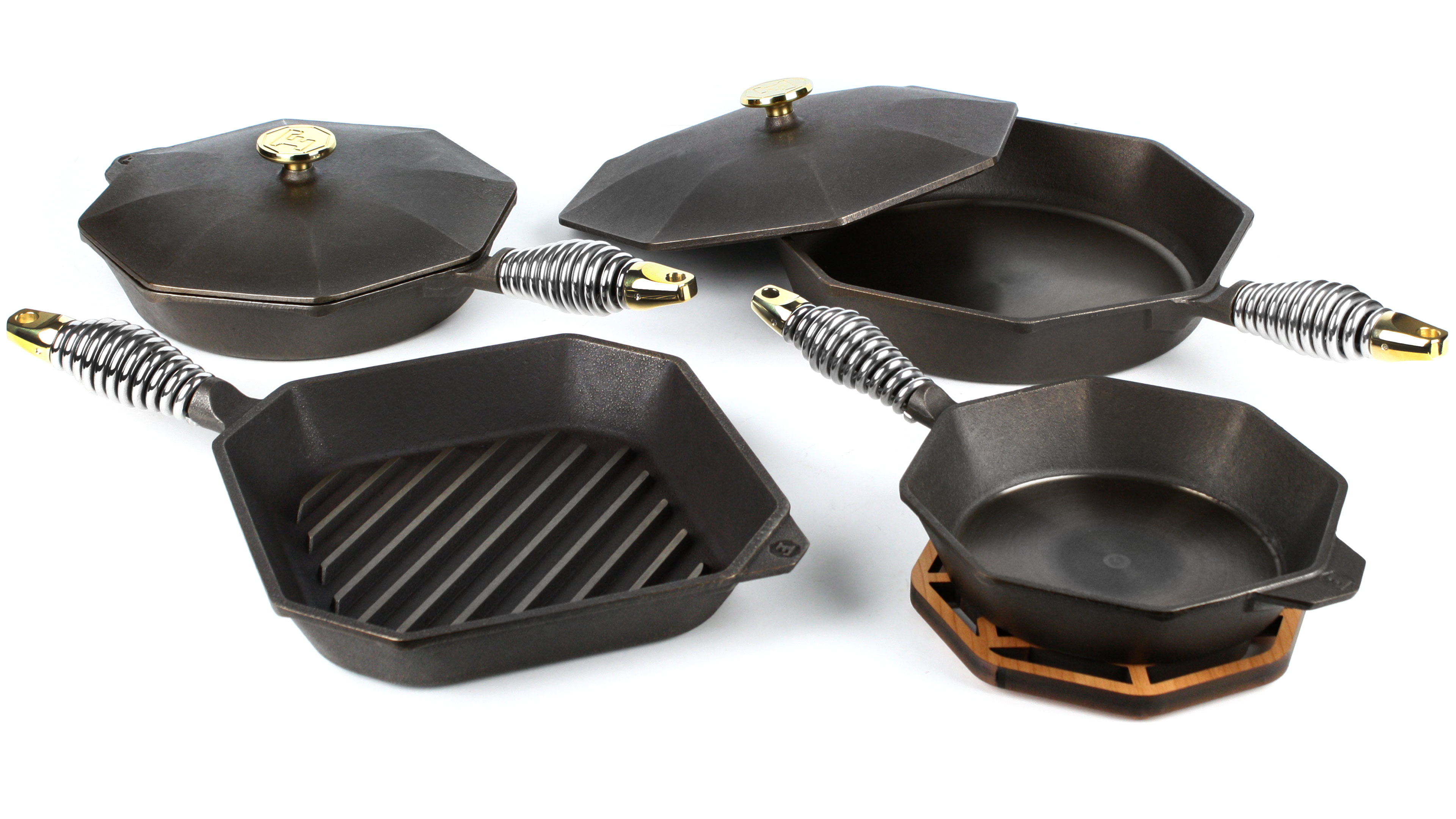 Finex Cast Iron Cookware Set 7 Piece Cutlery And More