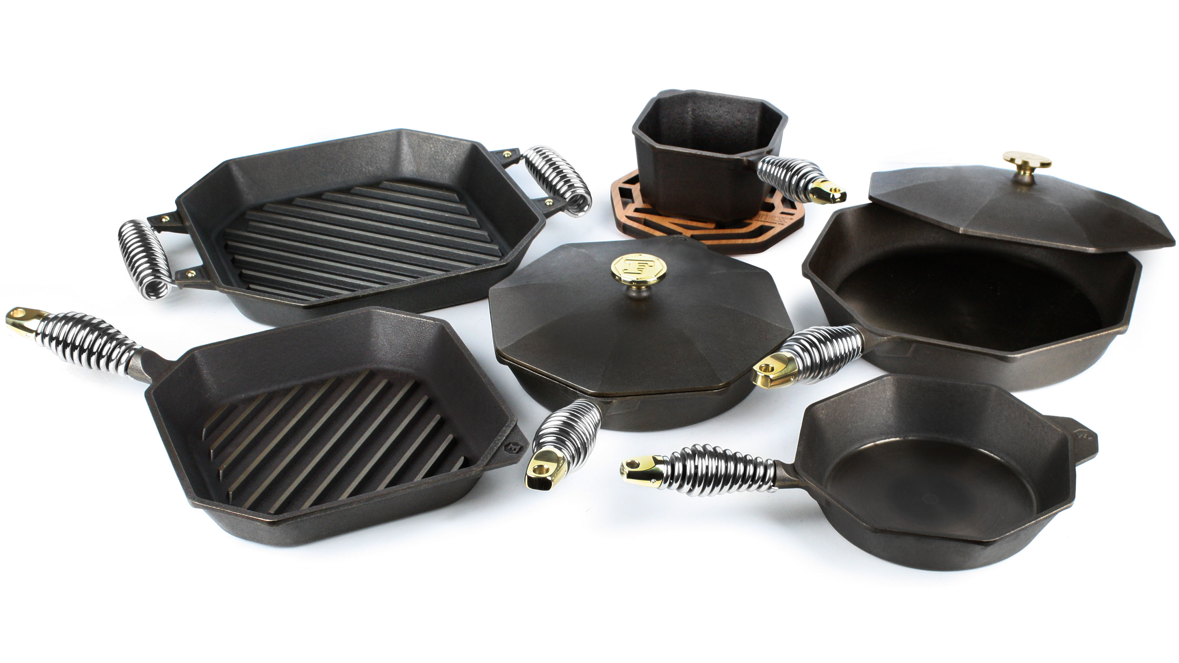 Finex Cast Iron Cookware Set 9 Piece Cutlery And More