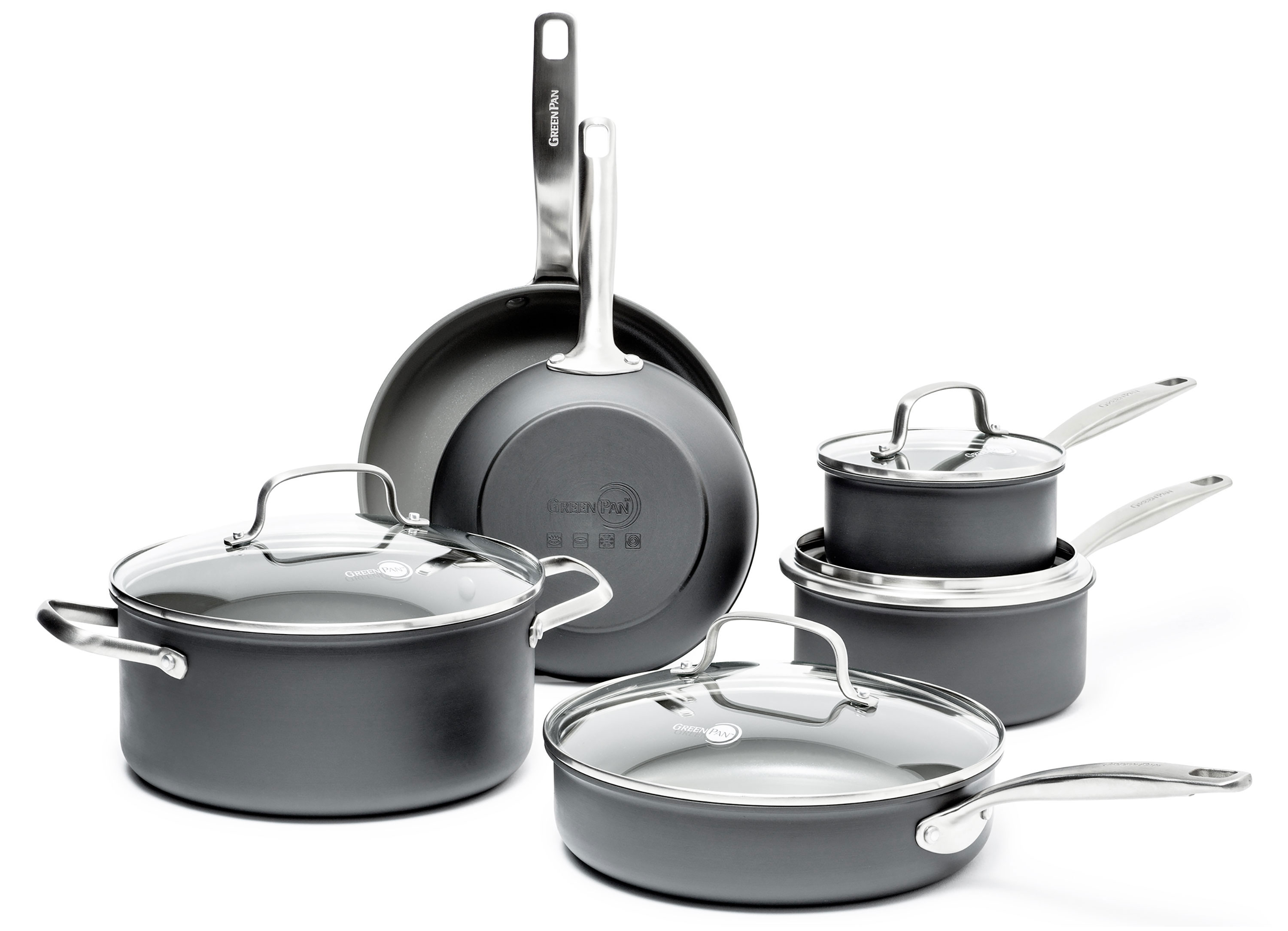 Greenpan Chatham Nonstick Cookware Set 10 Piece Cutlery