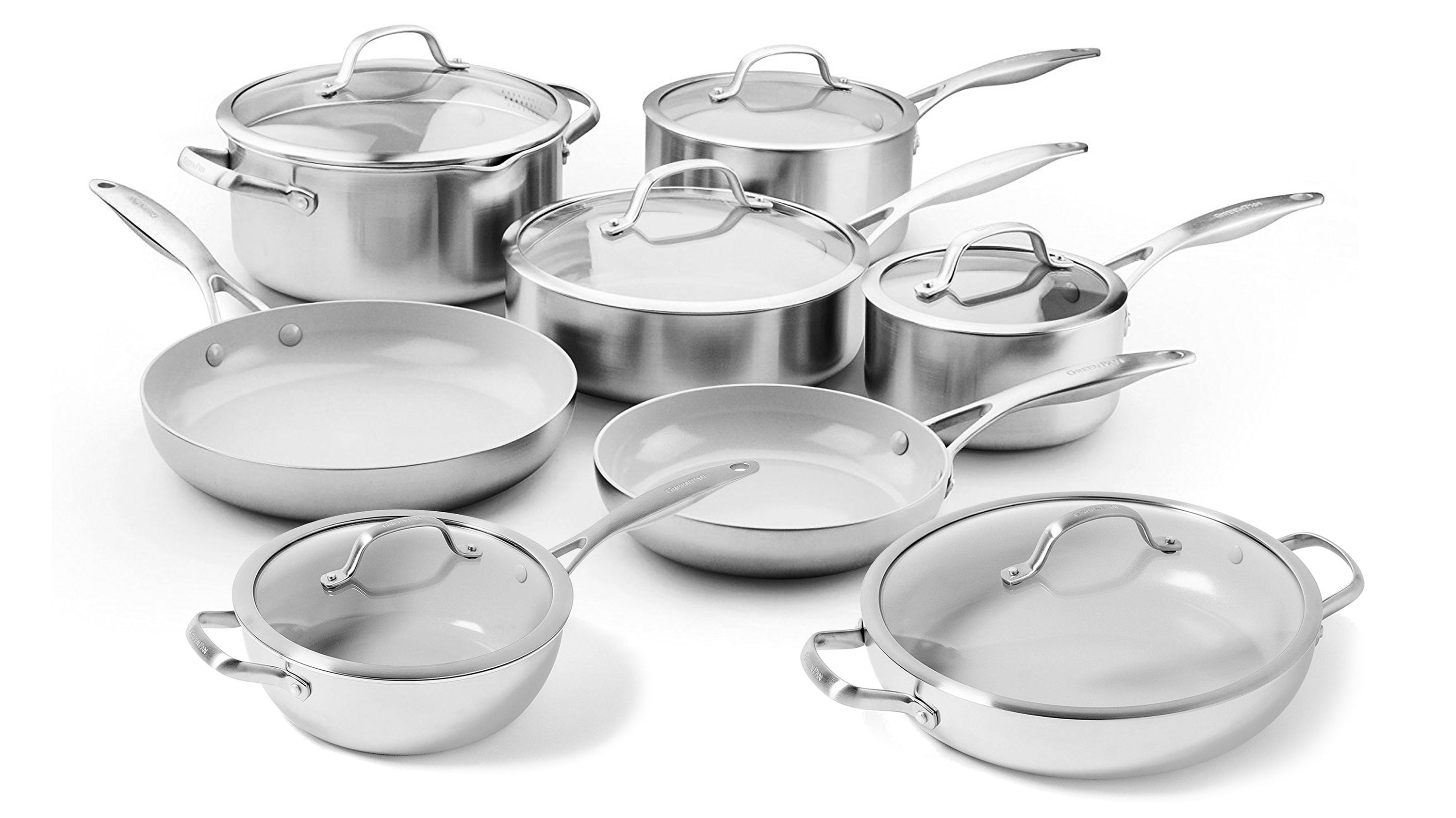 GreenPan Venice Pro 14 Piece Nonstick Cookware Set