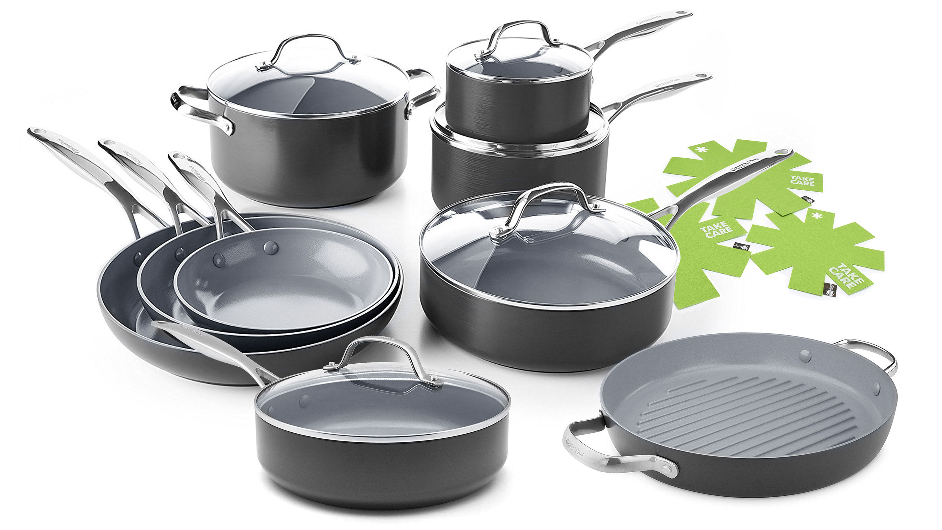 GreenPan Valencia Pro 14 Piece Nonstick Cookware Set