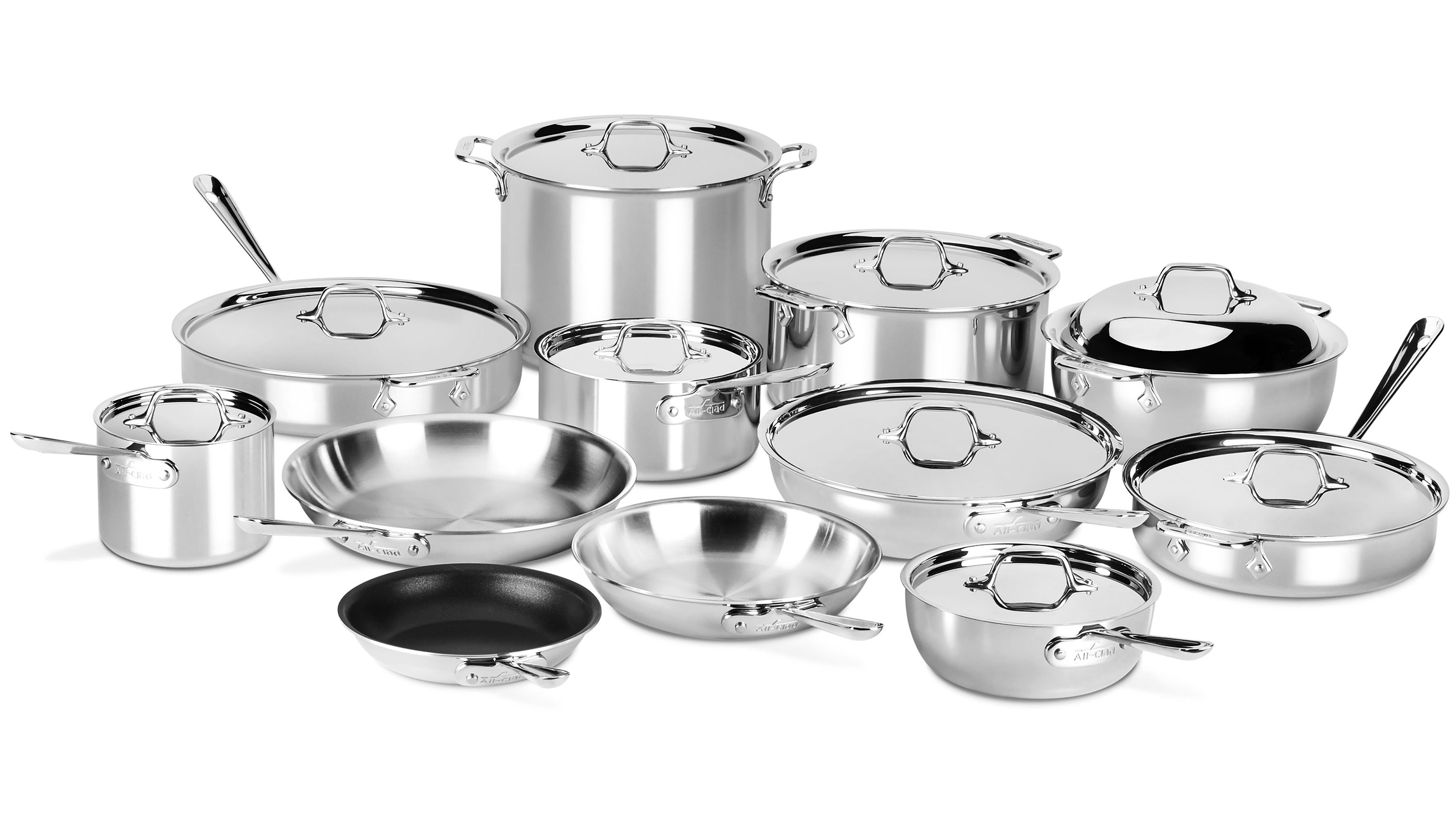 All-Clad d3 Stainless 21 Piece Ultimate Cookware Set