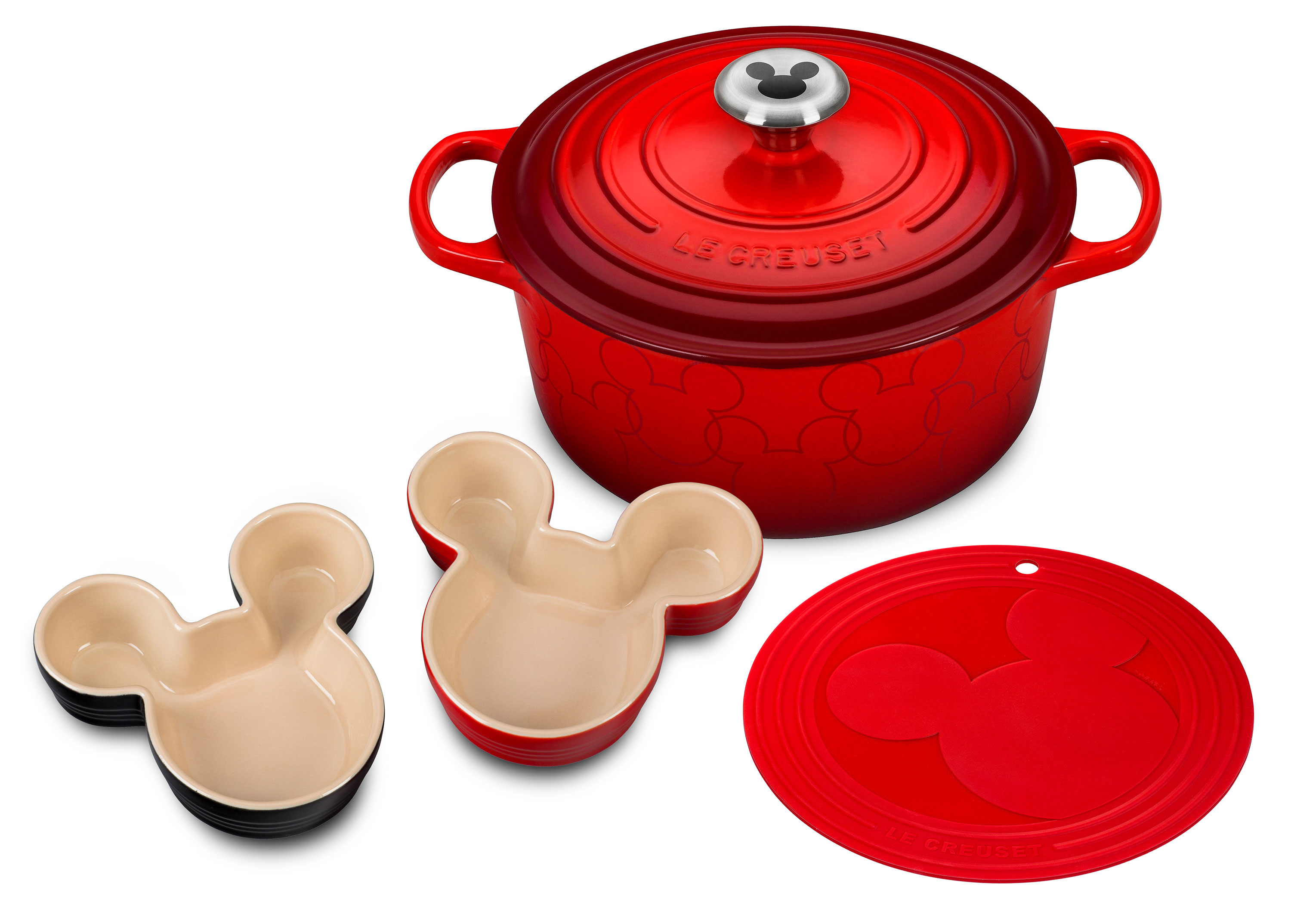 Le Creuset Mickey Mouse French Oven Set Disney Dutch