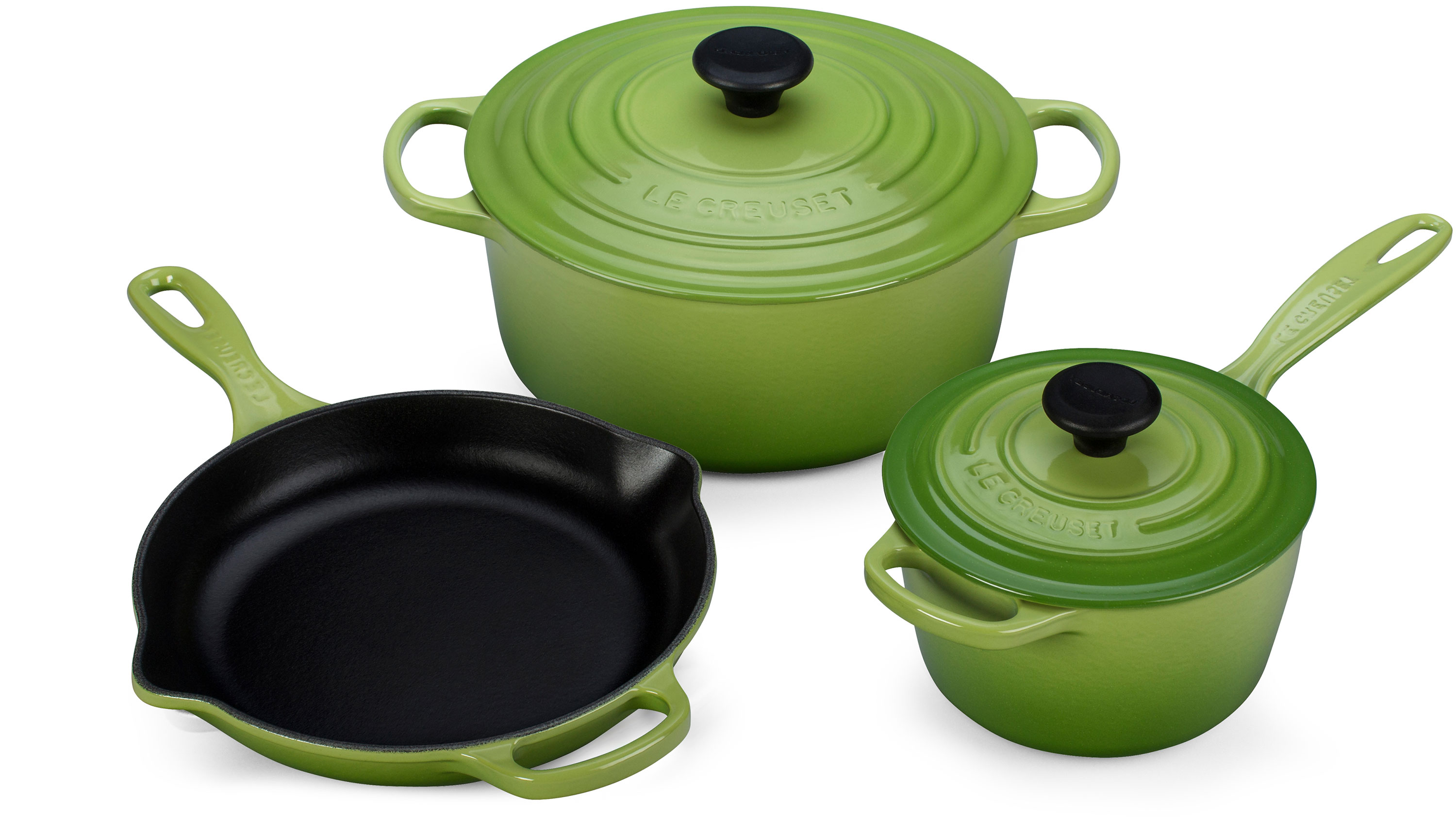 Le Creuset Signature Cast Iron 5 Piece Cookware Set Palm
