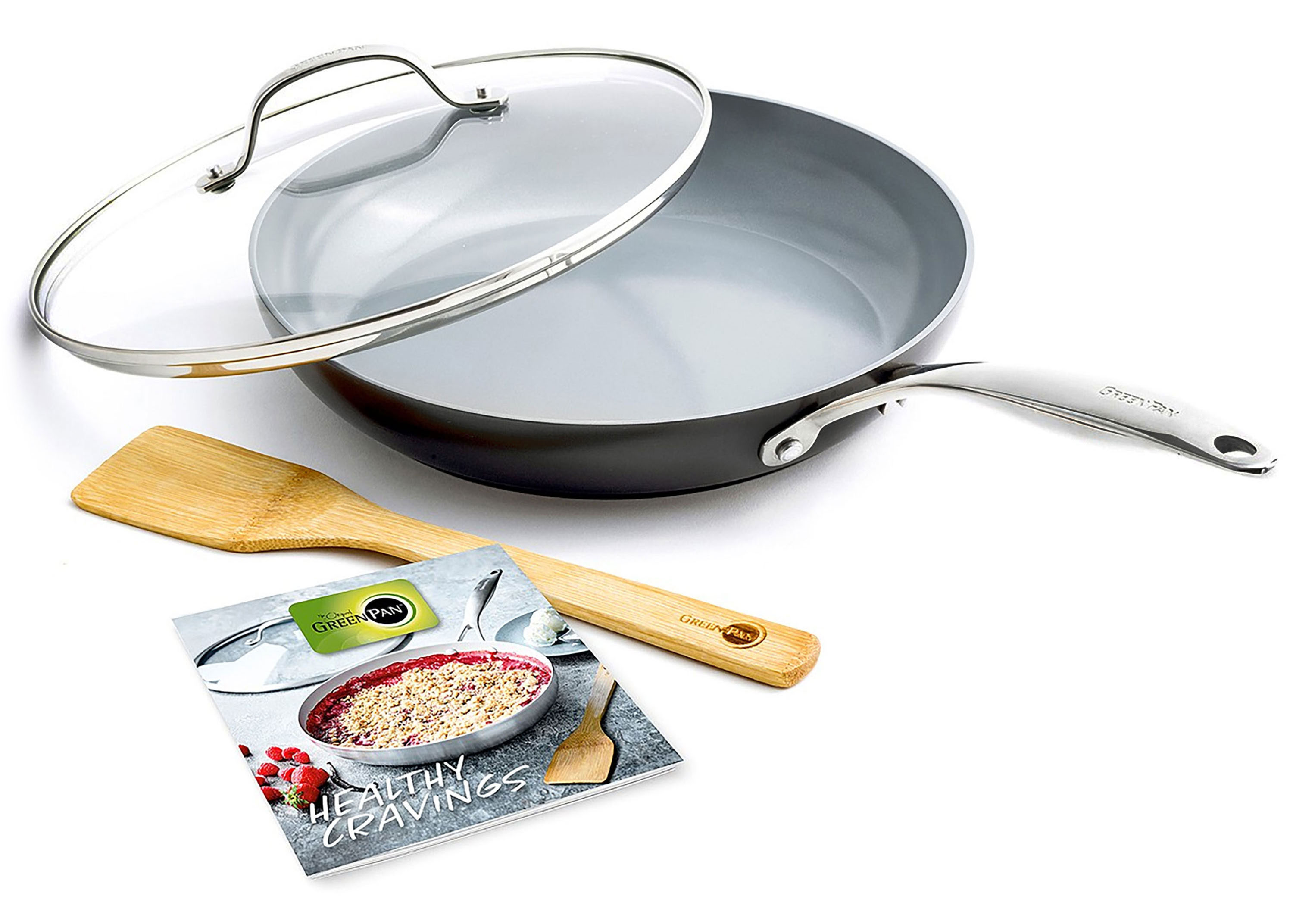 Greenpan Valencia Pro Covered Skillet With Cookbook And