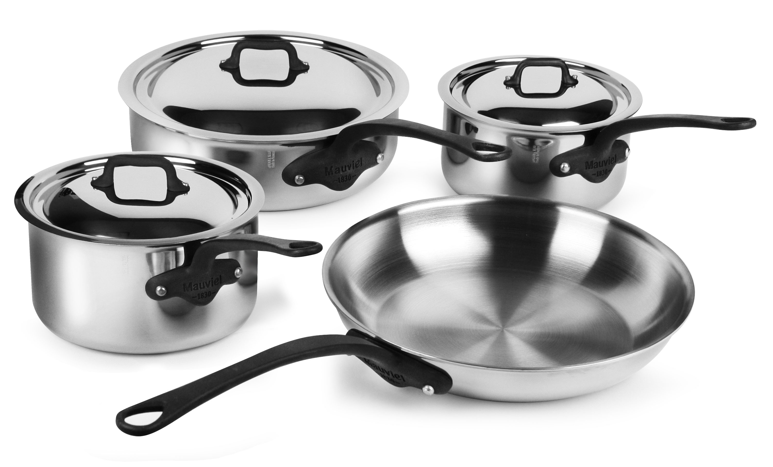 Mauviel M Cook Pro Stainless Steel Cookware Set 7 Piece
