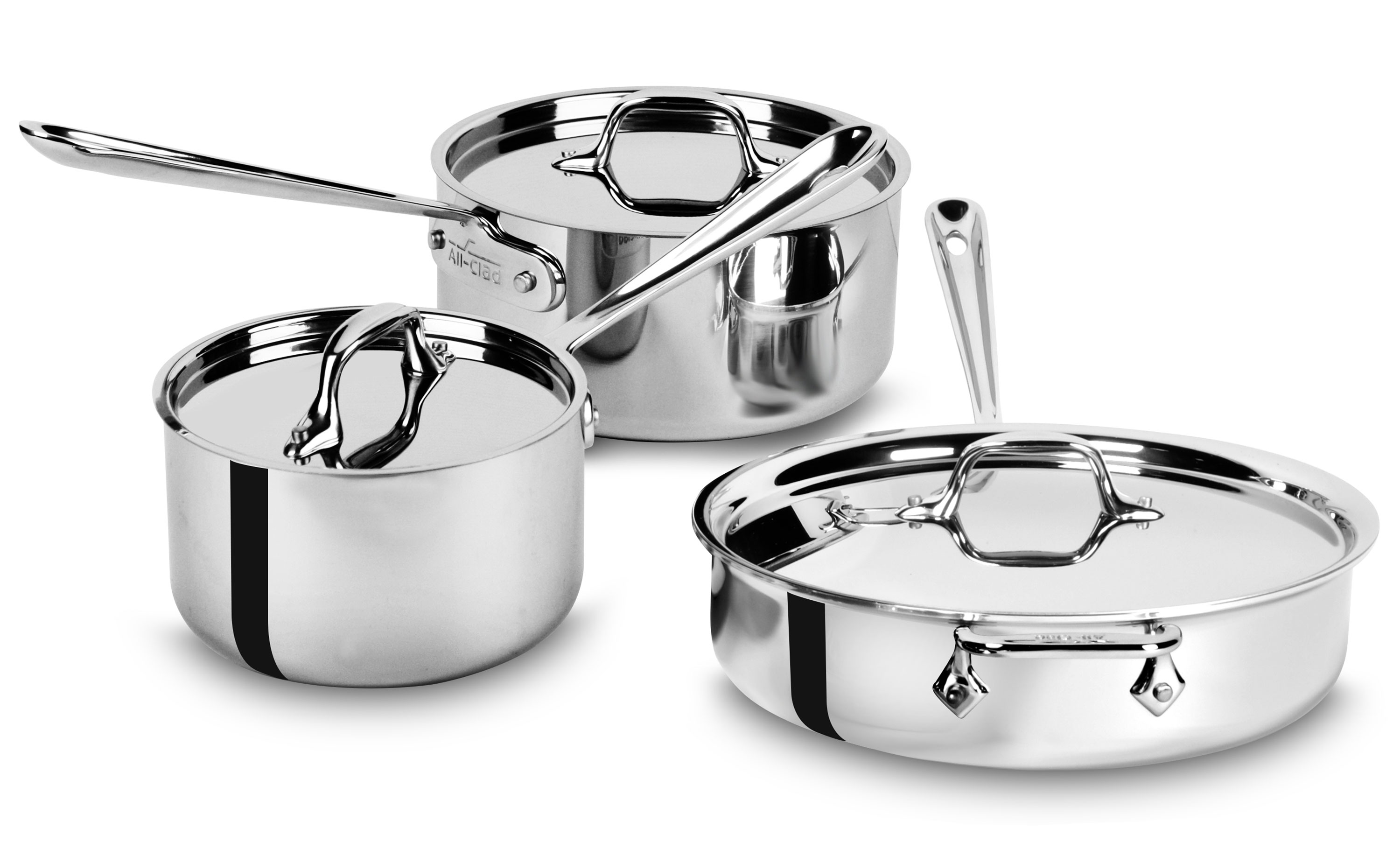 All Clad D3 Stainless Starter Cookware Set 6 Piece