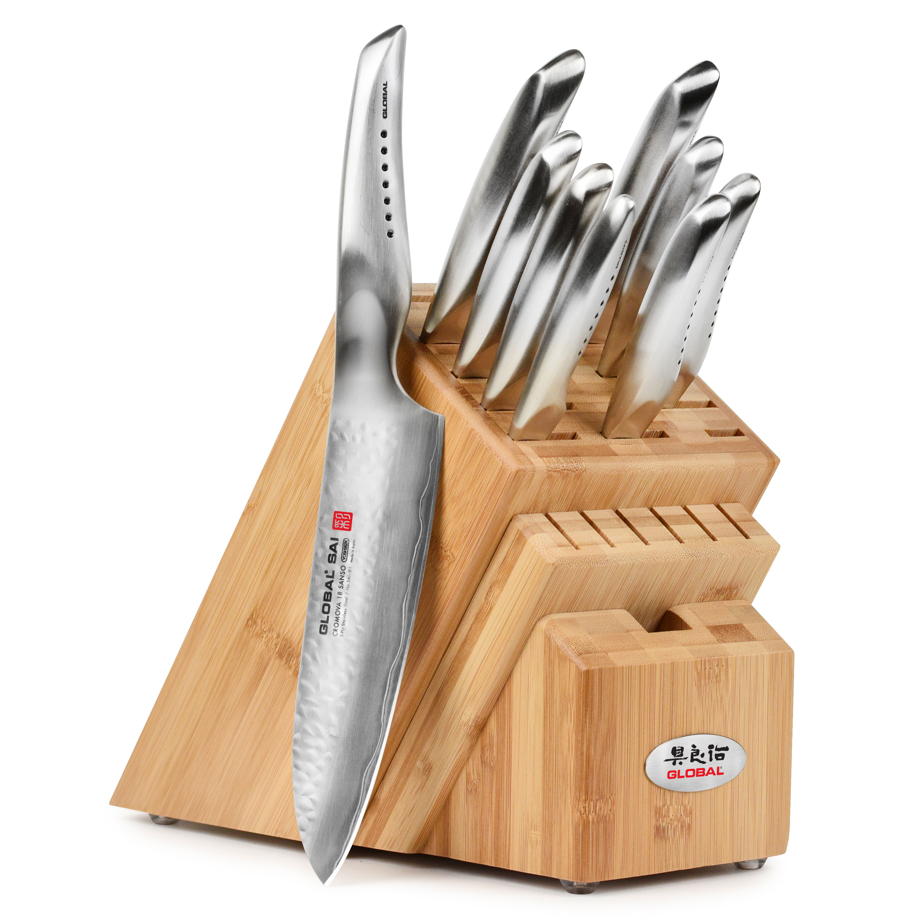 Global Sai Knife Set Japanese Knives 10 Piece Cutlery And More