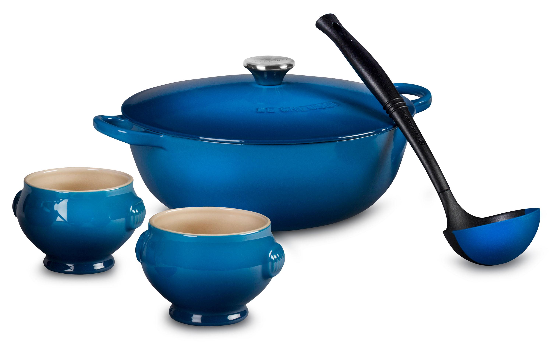 Le Creuset Soup Pot Set 4 25 Quart Marseille Cutlery