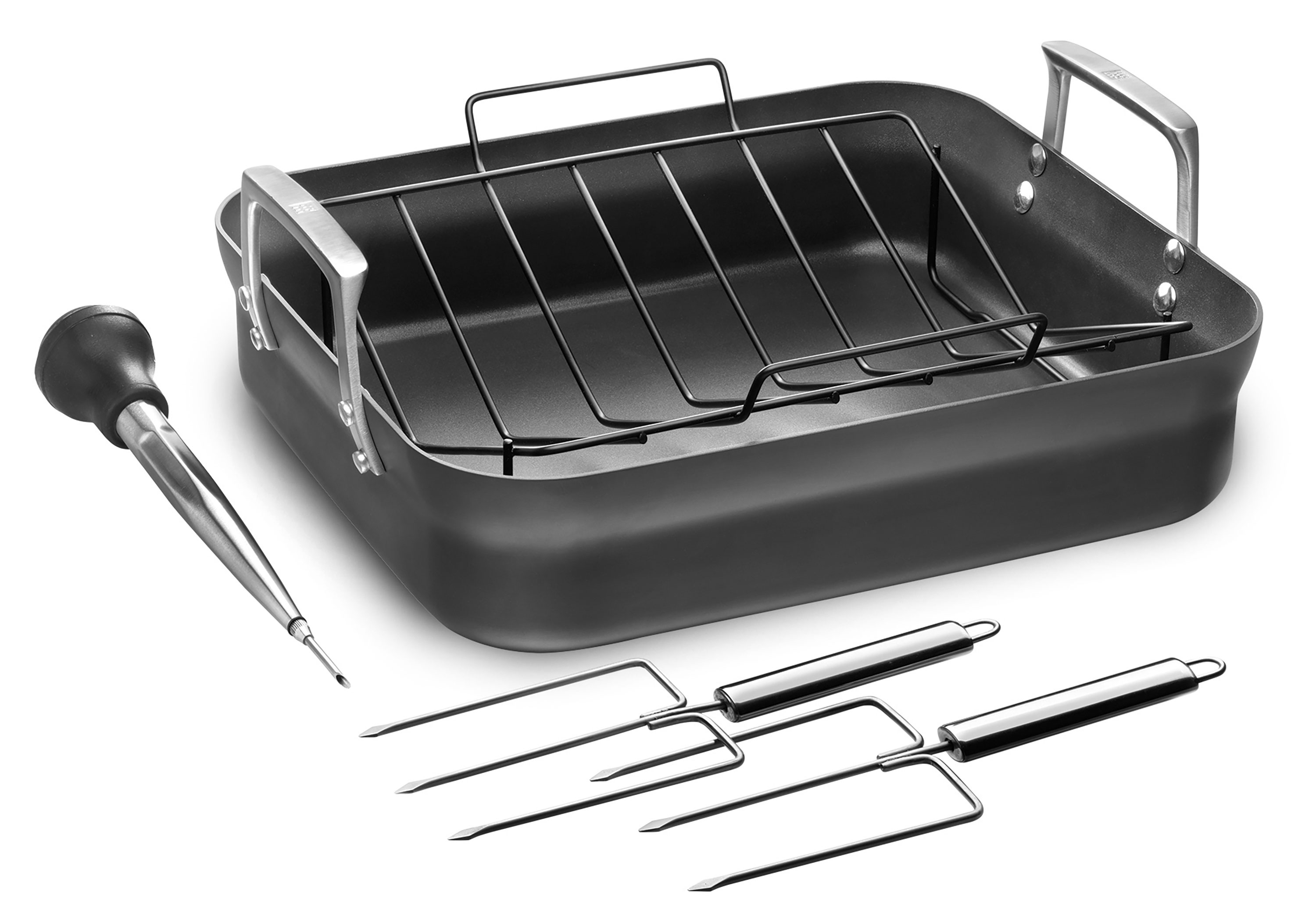 """AMC Stainless Multi-Ply 9.5/"""" Skillet Griddle Grill Stir Fry Roasting Pan NO lid"""
