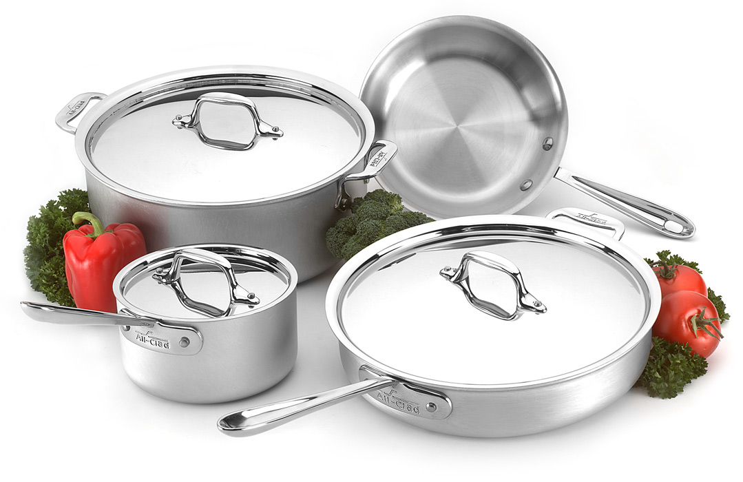 All Clad Master Chef 2 Cookware Set 7 Piece Cutlery And