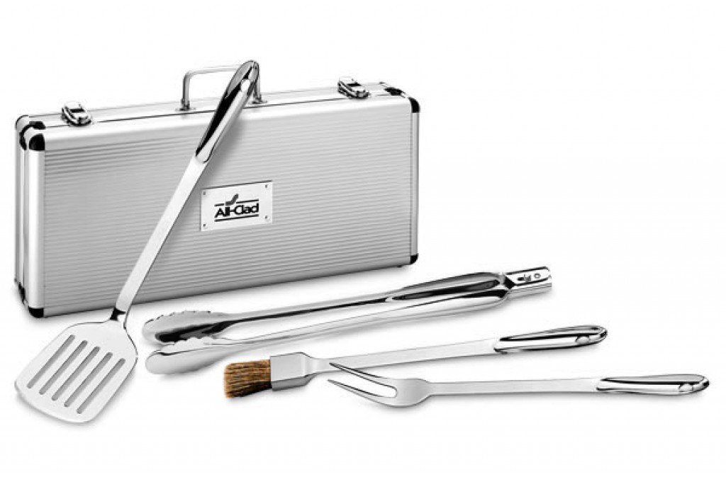 All Clad Stainless Steel Bbq Tool Set With Case Cutlery