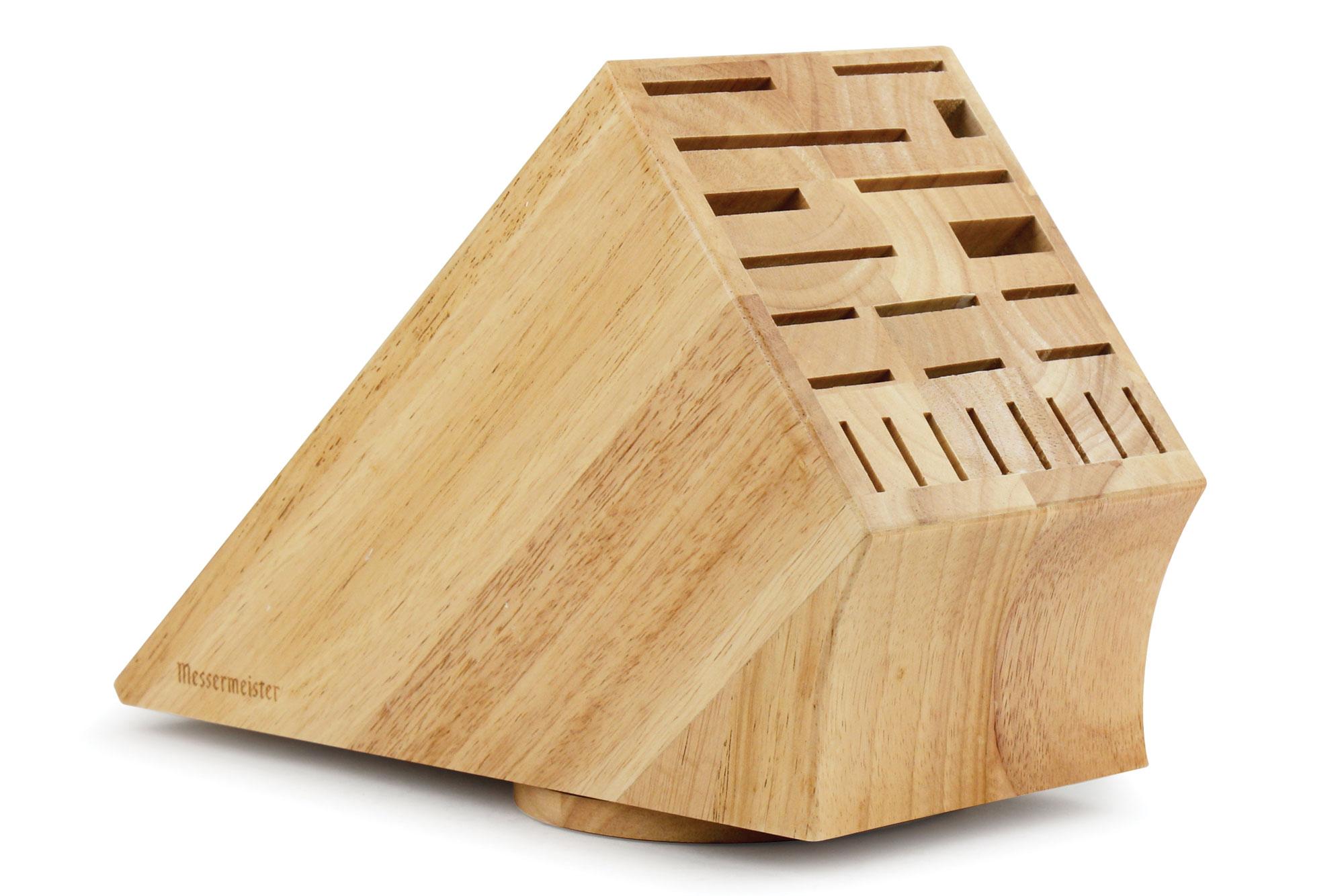 Messermeister Natural Wood Swivel Knife Block 22 Slot
