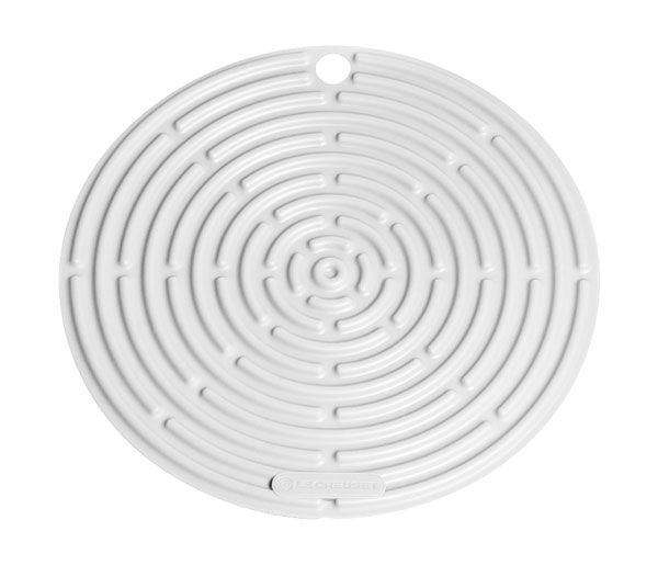 Le Creuset Round Silicone Cool Tool Hotpad 8 Inch White