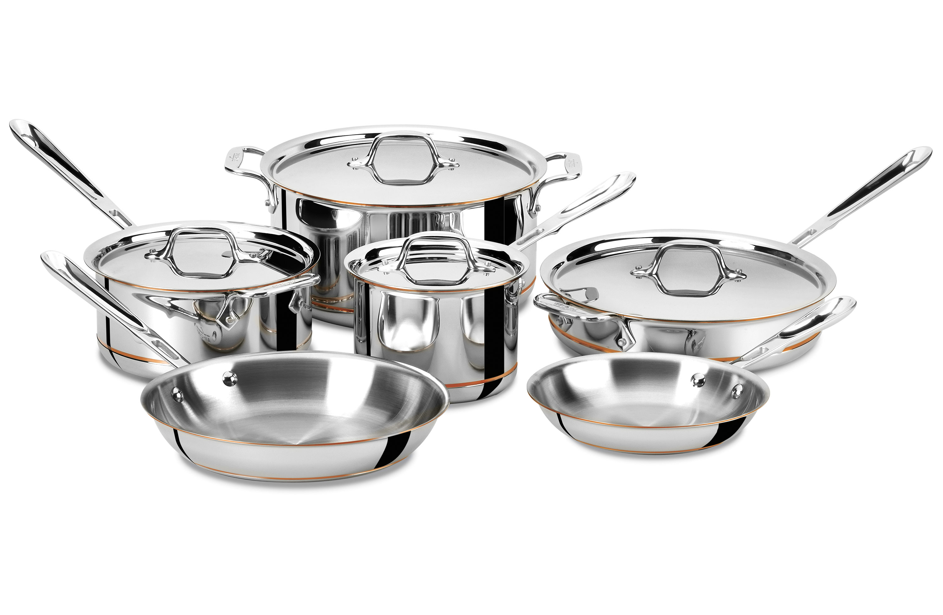 All Clad Copper Core Set 10 Piece Cookware Sets