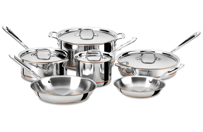 All Clad Copper Core Set 10 Piece Cookware Sets