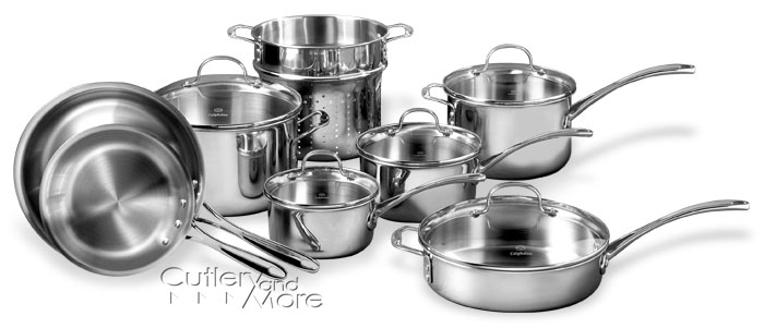 calphalon triply stainless cookware sets