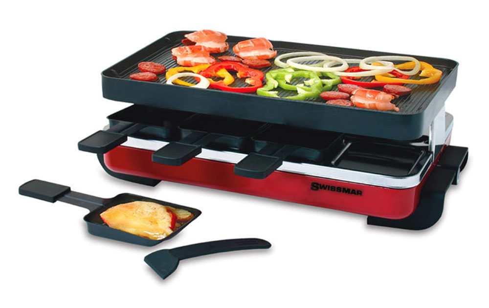 swissmar classic raclette grill 8 person red cutlery and more. Black Bedroom Furniture Sets. Home Design Ideas