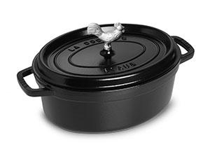 Staub Coq Au Vin Oval Dutch Oven 5 75 Quart Sapphire