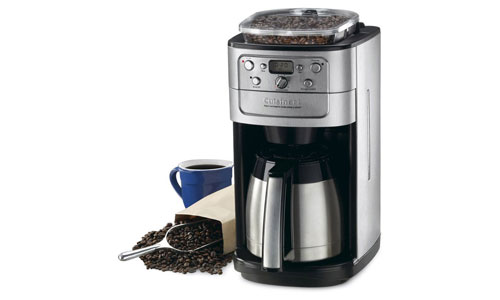 Grind And Brew Coffee Maker White : Cuisinart Grind & Brew Thermal Automatic Coffee Maker with Burr Grinder, 12-cup Cutlery and More