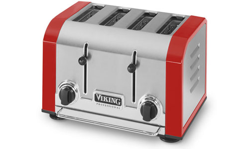 Viking Professional Toaster 4 Slot Bright Red Cutlery