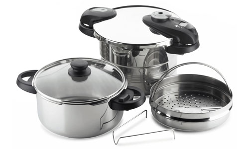 Fagor Futuro Stainless Steel Pressure Cooker Set 5 Piece