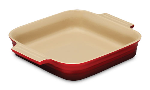 Le Creuset Stoneware Square Baking Dish 9 Inch Cherry Red