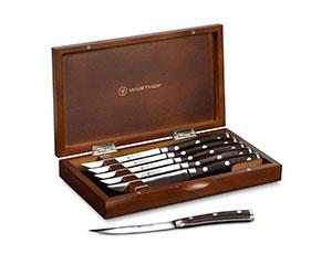 Wusthof Ikon Blackwood Steak Knife Set With Wood Case 8