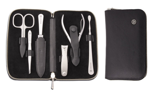 Wusthof Stainless Steel Manicure Set 7 Piece Brown