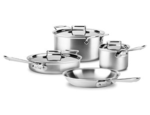 All Clad D5 Brushed Stainless Cookware Set 7 Piece
