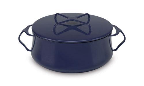Dansk Kobenstyle Metal Casserole 4 Quart Midnight Blue