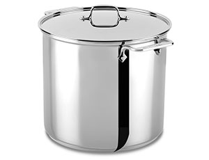 All Clad Stainless Steel Stock Pot 16 Quart Cutlery And