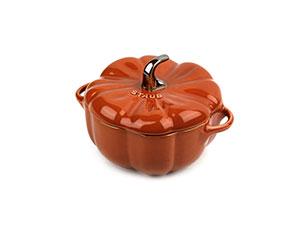 Staub Ceramic Burnt Orange Petite Pumpkin Cocotte 0 5