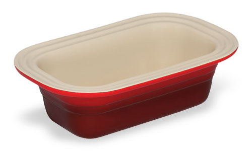 Le Creuset Stoneware Loaf Pan 1 25 Quart Cherry Red