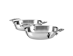 All Clad D3 Stainless Mini Stainless Steel Round Gratin