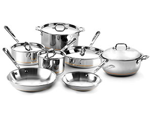 All Clad Copper Core Cookware Set 12 Piece Cutlery And More