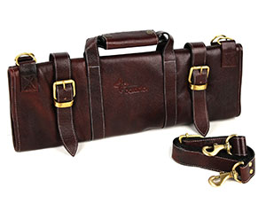 Boldric 17 Pocket Brown Leather Knife Bag