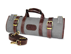 Boldric 17 Pocket Gray Canvas Knife Bag