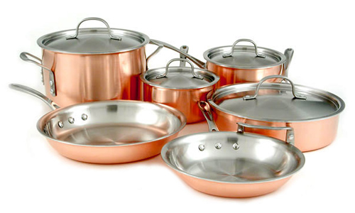 Calphalon Copper Cookware Set 10 Piece Cutlery And More