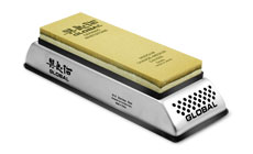 Global 1000 Grit Ceramic Whetstone with Stainless Holder
