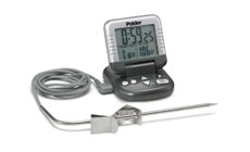 Polder Digital Programmable Cooking Thermometer with Timer