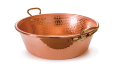 Mauviel M'passion Hammered Copper Jam Pans